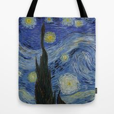 Starry Night by Vincent Van Gogh Tote Bag by ArtMasters - $22.00