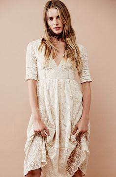 Free People 'Mountain Laurel' Lace Dress