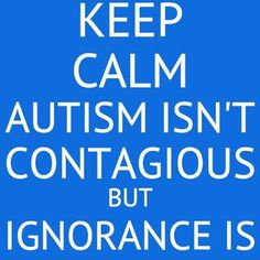 Autism awareness! Know the signs