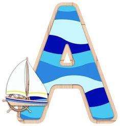 Alphabet Templates, Alphabet Images, Alphabet Print, Monogram Alphabet, Alphabet And Numbers, Nautical Letters, Nautical Theme, Sailor Baby Showers, Applique Patterns