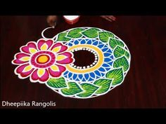 Sankranthi Special Rangoli and kolam Designs by Dheepiika // Sankranthi Muggulu Best Rangoli Design, Free Hand Rangoli Design, Rangoli Designs, Henna Designs, Sankranthi Muggulu, New Year Rangoli, Muggulu Design, Happy New Year 2020, Make It Yourself
