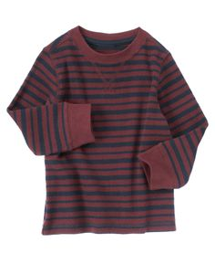 Stripe it up with a comfy thermal layer.