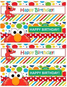 Resultado de imagen para free elmo printable birthday decorations Monster Birthday Parties, Elmo Party, Elmo Birthday, Elmo Decorations, Birthday Decorations, Sesame Street Party, Sesame Street Birthday, Elmo And Cookie Monster, Prints