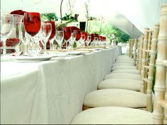 White decor wedding stretch tent