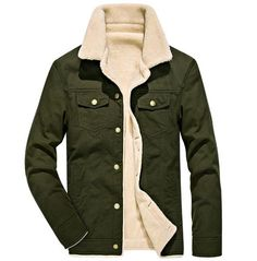Looking for Fuwenni Men's Winter Sherpa Fleece Lined Trucker Jackets Warm Cowboy Coat Fur Collar ? Check out our picks for the Fuwenni Men's Winter Sherpa Fleece Lined Trucker Jackets Warm Cowboy Coat Fur Collar from the popular stores - all in one. Men's Coats And Jackets, Winter Jackets, Casual Jackets, Parka, Herren Winter, Mens Winter, Revival Clothing, Moda Casual, Online Shopping