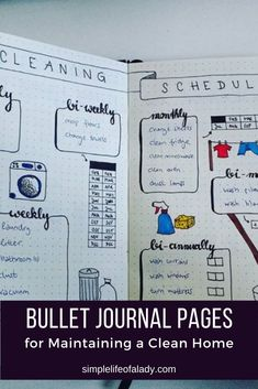 Keep your home tidy by using these bullet journal household trackers! Bullet Journal Lists, Organization Bullet Journal, Bullet Journal Layout, Bullet Journal Inspiration, Bullet Journals, Perfect Planner, Journal Pages, Journal Ideas, Organizing Your Home