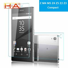 Front + Back Screen Protector Explosion Proof Premium Tempered Glass Film for Sony Xperia Z M4 M5 Z4 Z5 Z2 Z3 Compact case