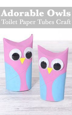 Adorable Owls Toilet Paper Tubes Craft