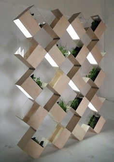 vertical gardens with tubelights - Google Search