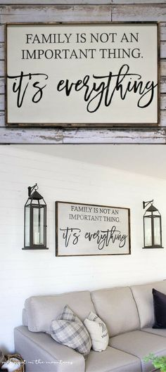 Family is not an important thing, it's everything wood sign. Rustic Sign. Farmhouse Decor. Family Sign. Rustic Decor. Housewarming Gift idea, Farmhouse sign, Rustic wall decor, home decor, living room decor #ad