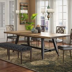 Modern Rustic Dining Table, Trestle Dining Tables, Solid Wood Table, Solid Wood Dining Table, Extendable Dining Table, Dining Table In Kitchen, Table And Chairs, Side Chairs, Dining Chairs