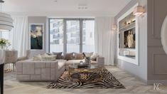 Luxury Living Room with Babylon Sofa from Visionnaire - designed by Krzysztof Chrustalew