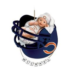 Chicago Bears Personalized Baby's First Christmas Ornament by The Bradford Exchange