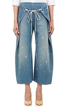 MM6 Maison Margiela Foldover Jeans - Cropped - Barneys.com