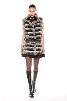 Natural chinchilla vest Chinchilla Fur, Fur Coat, Fall Winter, Winter Jackets, Austria, Collection, Designers, Vest, Natural