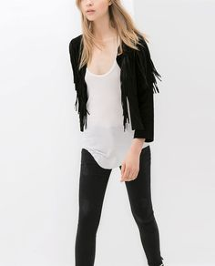 Giime gimme!!! FRINGED SUEDE JACKET from Zara