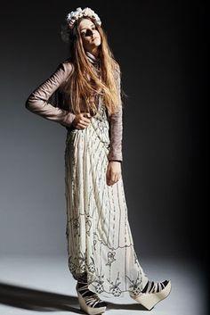 Topshop Snow Queen Beaded maxi dress