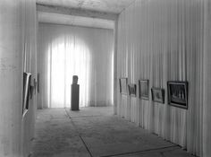 Installation view of works by Gustav H Wolff and Giorgio Morandi at Documenta 1 Kassel curated by Arnold Bode 1955