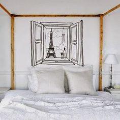 more diy inspiration for headboard/bedroom art alternatives. My New Room, My Room, Home Interior, Interior Decorating, Ideas Dormitorios, Sweet Home, Wall Decor, Room Decor, Wall Art