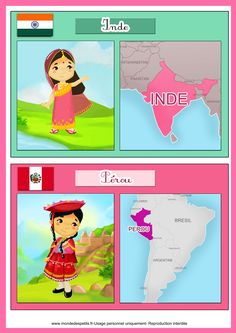 Les pays de la terre à imprimer World Thinking Day, Holidays Around The World, Special Kids, Montessori Toddler, Teaching French, Pre School, Preschool Activities, Teaching Kids, Social Studies