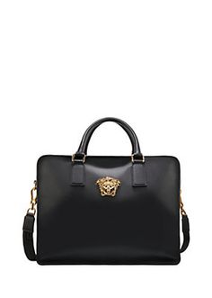 Versace - Palazzo calf leather holdall