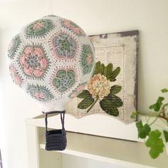 Virkad #luftballong #crochet #hotairballoon #inarho