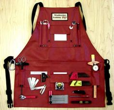 Few things in life are as much fun as woodworking. Woodworking allows you to show off your carpentry skills. Woodworking is great for so many reasons. Woodworking Apron, Cool Woodworking Projects, Diy Wood Projects, Woodworking Crafts, Woodworking Plans, Woodworking Basics, Tool Apron, Precision Tools, Work Aprons