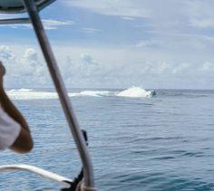 On ne dirait pas comme ça mais cette vague est mythique !  J'ai vu Teahupoo !!!   #LoveTahiti #Tahitietsesiles #LesIlesDuMana #EmbracedbyMana #Teahupoo #Surf #Tahiti #travelwithme