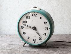 Working Vintage Alarm Clock - Mint Clock, Soviet Mechanical Clock Jantar, USSR Clock, Retro Clock on Etsy, $37.61 CAD