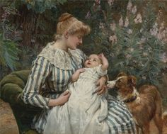 Gentle Reminder ~ Frederick Morgan ~ (English 1847 – 1927)