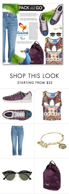 """""""Rio"""" by azra10 ❤ liked on Polyvore featuring adidas Originals, Alex and Ani, Ray-Ban, adidas, Opening Ceremony, Balmain and rio"""