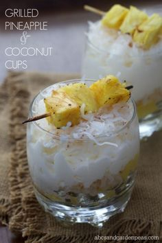 Grilled Pineapple and Coconut Cups #FireUpTheGrill #ad