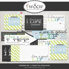 Like our Facebook Page to get this Freebie WordArt.  Weeds and Wildflowers Design.  Digital Scrapbooking.