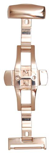 Hadley-Roma 18-mm 14K Rose Gold-Plated Push Button Deployment Clasp - http://www.specialdaysgift.com/hadley-roma-18-mm-14k-rose-gold-plated-push-button-deployment-clasp/