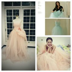 Another brilliant idea from pinterest that actually can be done perfectly. A beautiful d.i.y tulle dress ♥