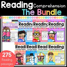 Kindergarten Reading Comprehension Passages And Questions (THE BUNDLE) Worksheets Reading Comprehension Posters, Reading Fluency, Reading Passages, Guided Reading, Common Core Reading, Teaching First Grade, Kindergarten Literacy, Preschool, Struggling Readers
