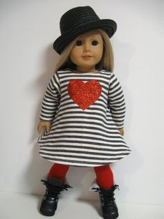 American Girl Doll Clothes Red Heart by 123MULBERRYSTREET on Etsy