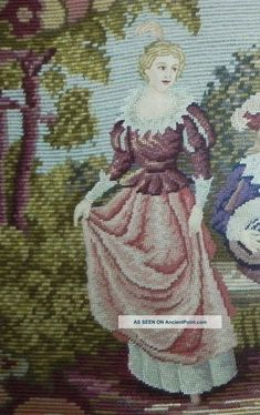 antique_completely_needlepoint_scenic_oval_tapestryantique_frame_30x24_5_lgw.jpg (1007×1600)