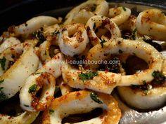 Seiches grillées au persil & à l'ail
