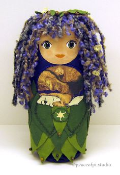 Mother Earth Art Doll (made from recycled shampoo bottle) | peaceofpi studio