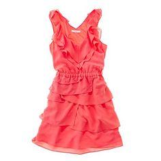 jewel-tone tiered dress