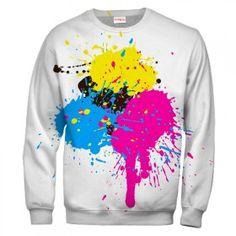 PAINT COLORFUL SPLASHES Sweatshirt