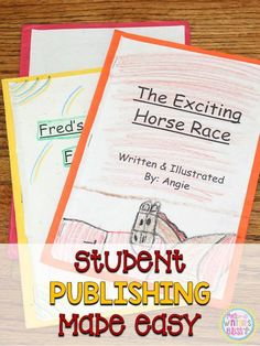 The Writing Process {ideas & a freebie} Publishing student writing in the primary grades