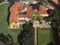 """Greenacres, Beverly Hills, CA. Called """"the most impressive movie star home ever created"""". Built in 1927, this estate has 42 rooms and originally on 16 acres."""