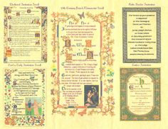 Wedding Themes - stationary samples Medieval Fantasies Company