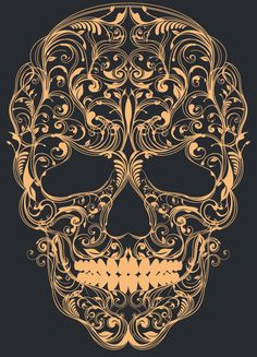 Skull ornament on Behance