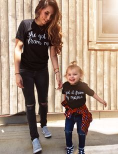 mommy and me outfits Mother Daughter Shirts, Mother Daughter Matching Outfits, Mommy And Son, Matching Family Outfits, Mother Daughters, Mom And Me Shirts, Baby Shirts, Kids Shirts, Mom And Baby Outfits