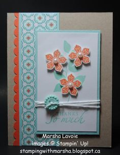 Thanks so Much! by StampingwithMarsha - Cards and Paper Crafts at Splitcoaststampers