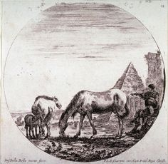 The Pyramid of Caius Cestius, from the series Landscapes and Ruins of Rome