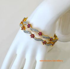 imitation-bangles-with-ruby-flowers